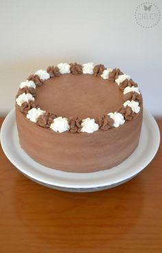 tarta-de-trufa-thermomix Cake Cookies, Cupcake Cakes, Thermomix Desserts, Chocolate Thermomix, Ganache, Cheesecake Cupcakes, Chocolate Sweets, Homemade Cakes, Delicious Desserts