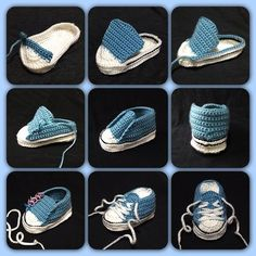 Crochet Converse Baby Booties Pattern Free Video Tutorial Crochet Baby Converse Free Pattern More Knitting works add the time when ladies spend their time to yourself, when they . Crochet Converse, Crochet Baby Shoes, Crochet Baby Booties, Crochet Slippers, Baby Slippers, Crochet Booties Pattern, Knitted Baby, Baby Knitting Patterns, Baby Patterns