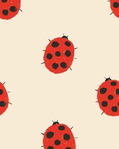Lady beetle print www.nadadelazos.com