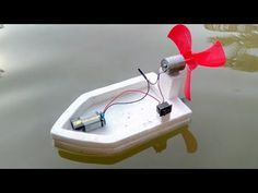 How to make a High Speed Water Boat using DC Motor Boat Projects, Stem Projects, Science Projects, Projects For Kids, Crafts For Kids, Make A Boat, Build Your Own Boat, Diy Electronics, Electronics Projects