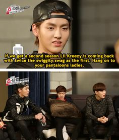 if they do have a second season it wldnt be the same without him :((( #kris #exo #exoshowtime