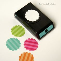 """2"""" scallop punch for cupcake toppers too #paper #punch #die"""