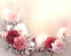 Blooming Peonies Plakaty autor T. Decoupage Vintage, Decoupage Paper, Vintage Diy, Vintage Paper, Art Floral, Motif Floral, Floral Prints, Paper Background, Vintage Flowers