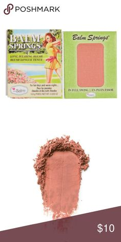 """Free with Purchase! """"Balm Springs"""" Blush This sample came with my Ipsy subscription. Free with any clothing or accessory purchase, just leave a comment so I can include in your shipment! If you chose to purchase this alone price is firm. Color is a nice dusty rose and has 12 hour stay. Brand new, 1g. The Balm Makeup Blush"""