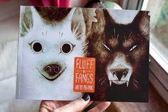Fluff & Fangs by MegParkArts on Etsy