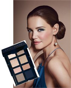Navy & Nude eyes by Bobbi Brown. Love this palette. The NAVY is beautiful.