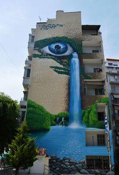 ISANE 51 Street art in Greece  Amazing beautiful art painting   #streetart #urbanart