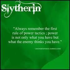 Image result for slytherin tactics