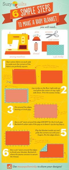 30 minute baby blanket infographic!