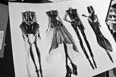 Fashion Sketchbook - fashion design drawings; fashion sketch; fashion illustration // Peter Do