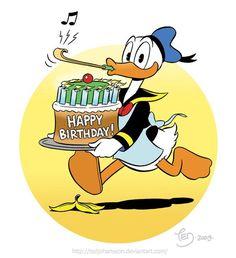 by TedJohansson on DeviantArt Happpy Birthday, Happy Birthday Art, Happy Birthday Messages, Happy Birthday Greetings, Birthday Sayings, Birthday Wishes, Birthday Cards, Disney Happy Birthday Images, Disney Birthday