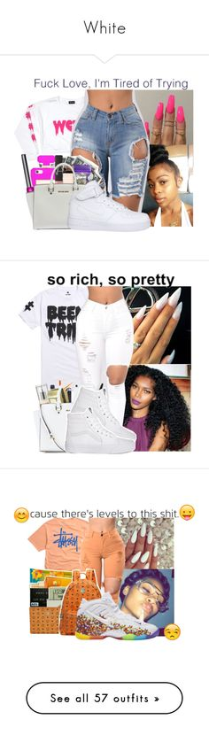 """""""White"""" by badleaa on Polyvore featuring NIKE, Been Trill, Stussy, Retrò, Ralph Lauren, Topshop, Boohoo, Vans, Victoria's Secret PINK and Michael Kors"""