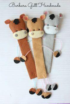 Barbara Handmade...: Zakładki-koniki / Horses Bookmarks