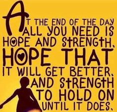 Hope quote via Comeback Power at www.Facebook.com/CancerDuckIt and www.ComebackPower.com