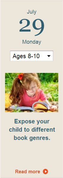 Expand your child's reading selections by encouraging her to try a different genre each month. Click for more.