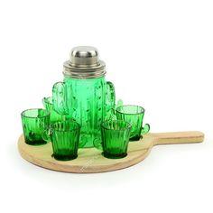 Kit Coquetel com 8 Peças Cactus  - Mimeria | Mimos e Presentes Fofos Measuring Spoons, Bar, Cocktail Shaker, House Party, Bucket Lists, Creative Gifts, Glass