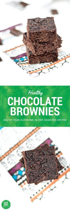 Healthy Chocolate Brownies | WIN-WINFOOD.com Extra rich and decadent yet super #healthy brownies with a secret ingredient #vegan #glutenfree #oifree #sugarfree
