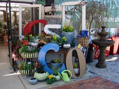 Spring Entryway At Garden Supply Co. With Vintage Channel Letters Found At  Salvage.