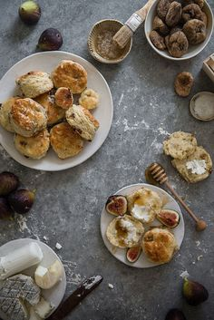 Fig, Goats Cheese and Honey Scones