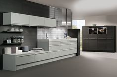http://www.bebarang.com/more-interesting-with-german-kitchen-cabinets/ More Interesting With German Kitchen Cabinets : Kitchen Elegant Black And White Themes German Kitchen Design Inspirations With Modern Gray S...