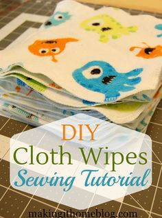 2 yards of flannel fabric + 30 minutes = 20 cloth baby wipes!!! I LOVE this sewing tutorial for cloth wipes! They're so quick that they make the perfect baby gift for any cloth diapering mama, and can even be used as unpaper towels.There are instructions for sewing machines and for sergers, so anyone can make them.