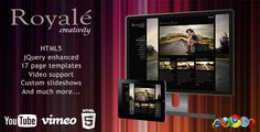 Royale' Creative HTML5 Template   http://themeforest.net/item/royale-creative-html5-template/460271?ref=damiamio            Check out our other HTML5 Template: NIARRA  Royale' Creative HTML5 Template 	 Royale' is the creative template that will bring out the best in your photography or videos, and the complete set of page templates will give you the possibility to present your brand and work in a refined and professional way. When creating Royale', we made sure we didn't miss any details, so…