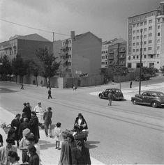 Local onde foi construído o cinema Império, entre a avenida Almirante Reis, a alameda de Dom Afonso Henriques e a rua Quirino da Fonseca, 1959.