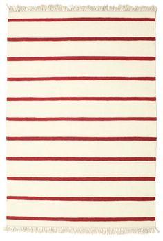Alfombra Dorri Stripe - White/Red 200x140