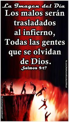 """08 de enero de 2015 - """"Los malos serán trasladados al Seol, Todas las gentes que se olvidan de Dios."""" Salmos 9:17 #LaImagendelDia"""