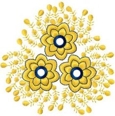 Gold flower free machine embroidery design. Machine embroidery design. www.embroideres.com