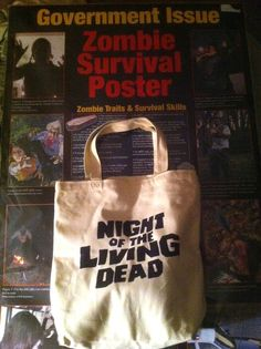 Night Of The Living Dead - Double Sided Print Canvas Tote Hand- I want this tote too, it's awesome!