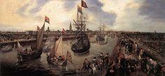 Adriaen_Pietersz._van_de_Venne_-_The_Harbour_of_Middelburg_-_WGA24553.jpg (1399×650)
