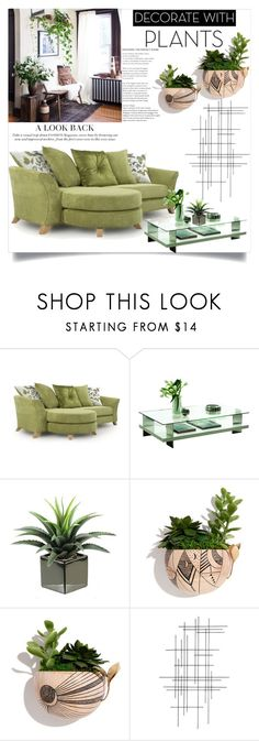 """""""Decorate With Plants"""" by clotheshawg ❤ liked on Polyvore featuring interior, interiors, interior design, home, home decor, interior decorating, Pacini & Cappellini, Lio and Linn, Crate and Barrel and plants"""