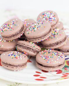 Objetivo: Cupcake Perfecto.: Macarons festivos de chocolate y café