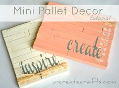 mini pallet art tutorial