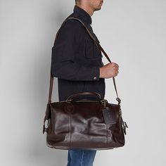 89c8f05cb1 Barbour Travel Explorer Bag - Chocolate Brown Leather - UBA0008BR91 -  Smyths Country Sports