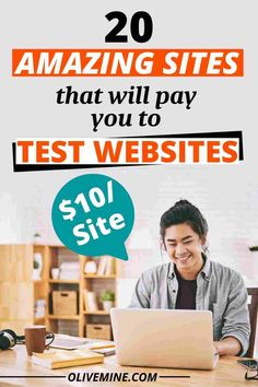 20 Sites That Will Pay You to Test Websites ($10/site) Work From Home Jobs, Make Money From Home, Make Money Online, How To Make Money, Jobs For Teens, Amazing Websites, 13 Year Olds, Online Jobs, Extra Money