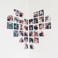 Dica simples de decor: photowall de coração na parede ❤️ É barato, fácil de fazer e fica lindo // @deboralcantara #tudoornainspira
