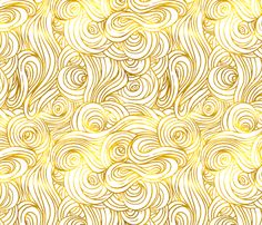 Gilded Clouds fabric by willowlanetextiles on Spoonflower - custom fabric