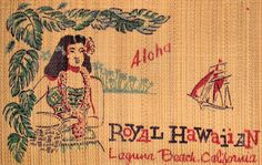 Tiki Lagoon: The Royal Hawaiian, Laguna Beach Vintage Tiki, Vintage Hawaii, Thalia Surf, Hawaiian Restaurant, Tiki Hawaii, Huntington Beach California, Restaurant Themes, California Restaurants, Hawaiian Designs