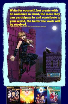 WEE's sort-of Daily Quote No. 91 15 April 2016 From one WEE author. I chose the first book cover in each series within Will Greenway's massive universe, and one of my favourite characters...