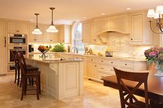 Groton MA custom kitchen cabinets with glazed finish and integrated appliances
