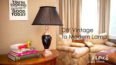 DIY Vintage to Modern Lamp