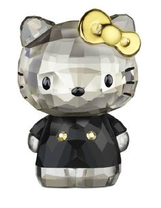 Swarovski Hello Kitty with Gold Bow Swarovski Crystal Figurine.