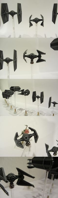 x-wing   Tie Fighter repainted