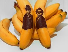 Banana Peel Art by Artist Honey