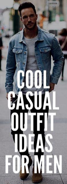 COOL CASUAL OUTFIT IDEAS FOR MEN #mensfashion #fallfashion #streetstyle