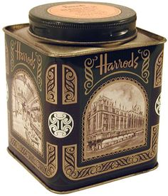 Harrods Tea (I actually have this one) Coffee Box, Tea Packaging, Tea Tins, Tea Box, Tea Caddy, Rose Tea, Vintage Tins, Tin Boxes, My Tea