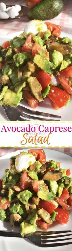 Avocado Caprese Salad - Anna Can Do It!