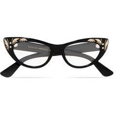bdd151a127 Gucci Cat-eye acetate optical glasses ( 415) ❤ liked on Polyvore featuring  accessories